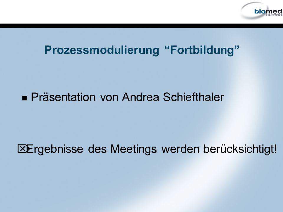 Prozessmodulierung Fortbildung Präsentation von Andrea Schiefthaler Ö Ergebnisse des Meetings werden berücksichtigt!
