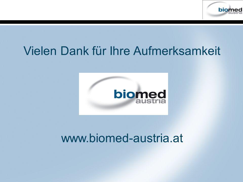 Vielen Dank für Ihre Aufmerksamkeit www.biomed-austria.at