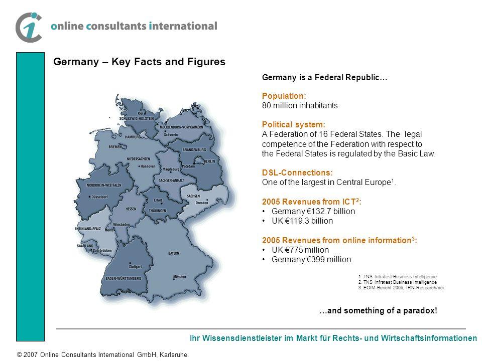 Ihr Wissensdienstleister im Markt für Rechts- und Wirtschaftsinformationen © 2007 Online Consultants International GmbH, Karlsruhe.