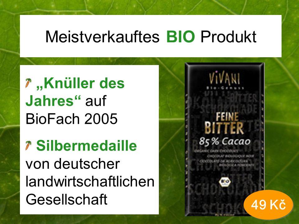 Meistverkauftes BIO Produkt Knüller des Jahres auf BioFach 2005 Silbermedaille von deutscher landwirtschaftlichen Gesellschaft 49 Kč