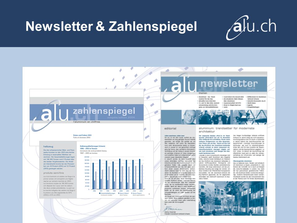 Newsletter & Zahlenspiegel