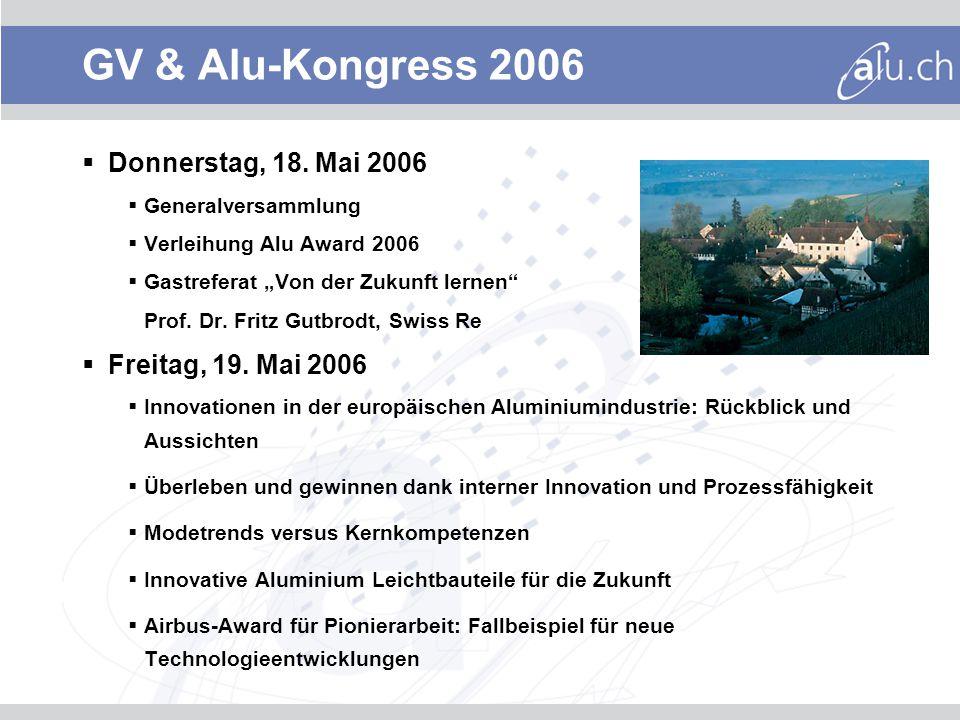 GV & Alu-Kongress 2006 Donnerstag, 18.