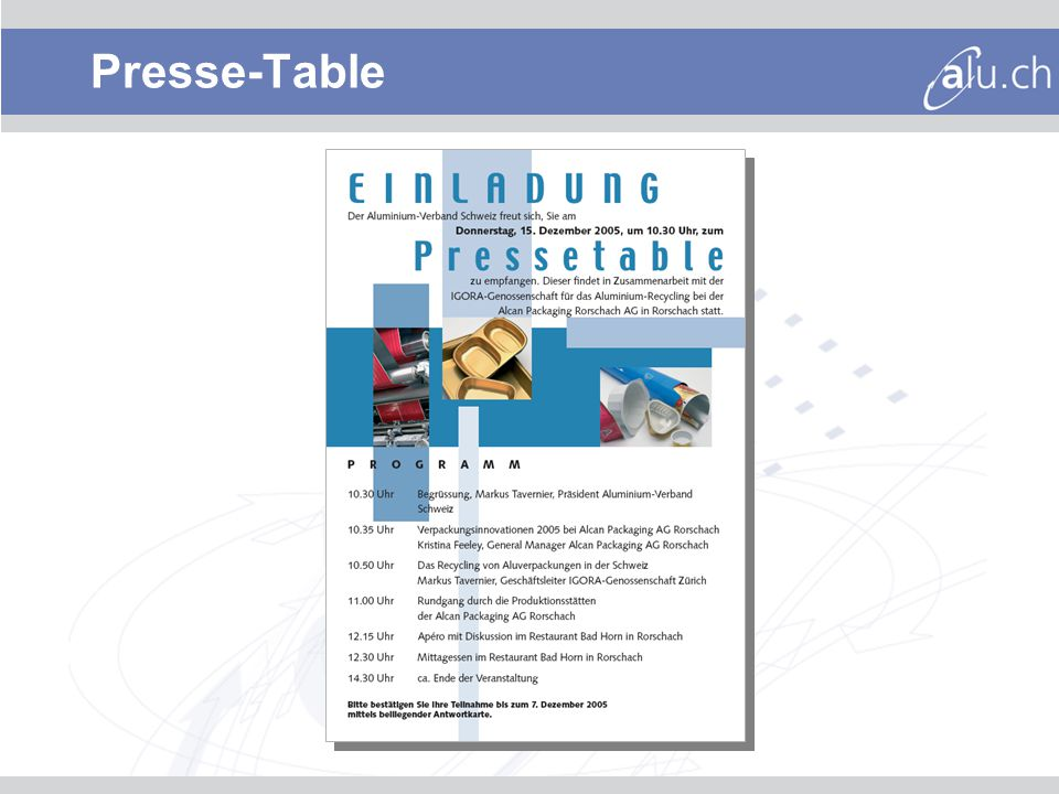 Presse-Table