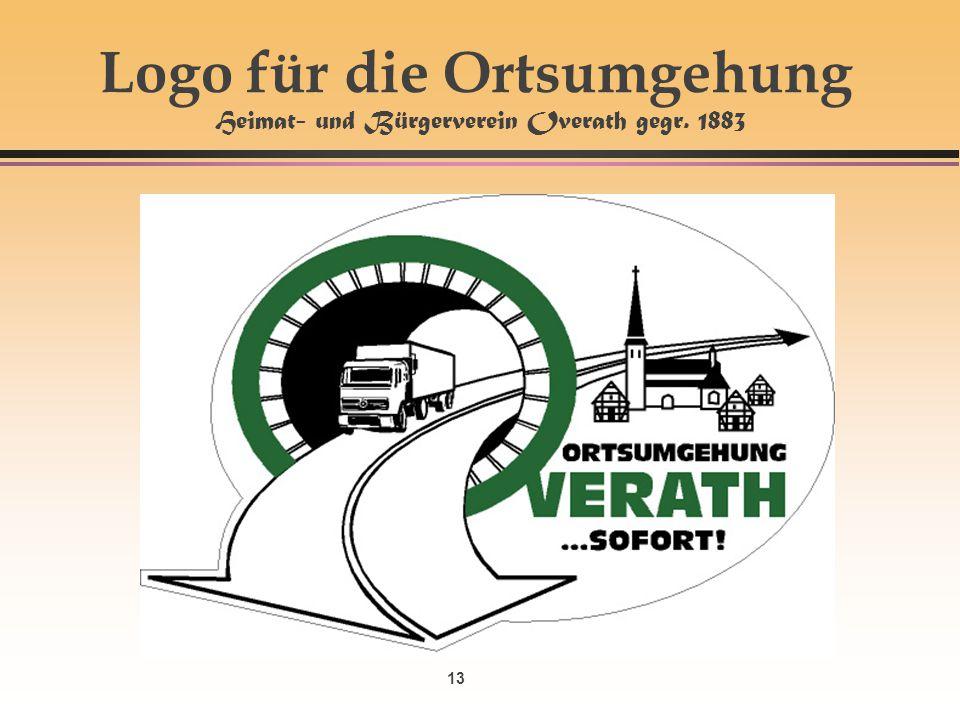 13 Logo für die Ortsumgehung Heimat- und Bürgerverein Overath gegr. 1883