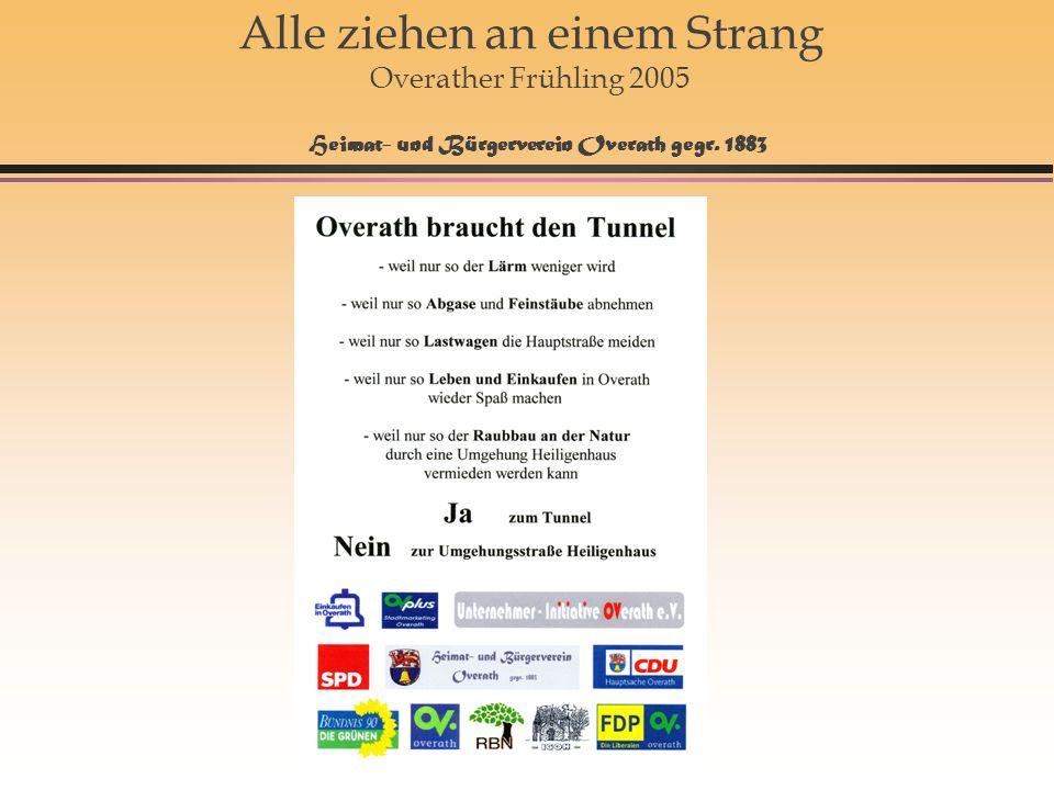 16 Alle ziehen an einem Strang Overather Frühling 2005 Heimat- und Bürgerverein Overath gegr. 1883