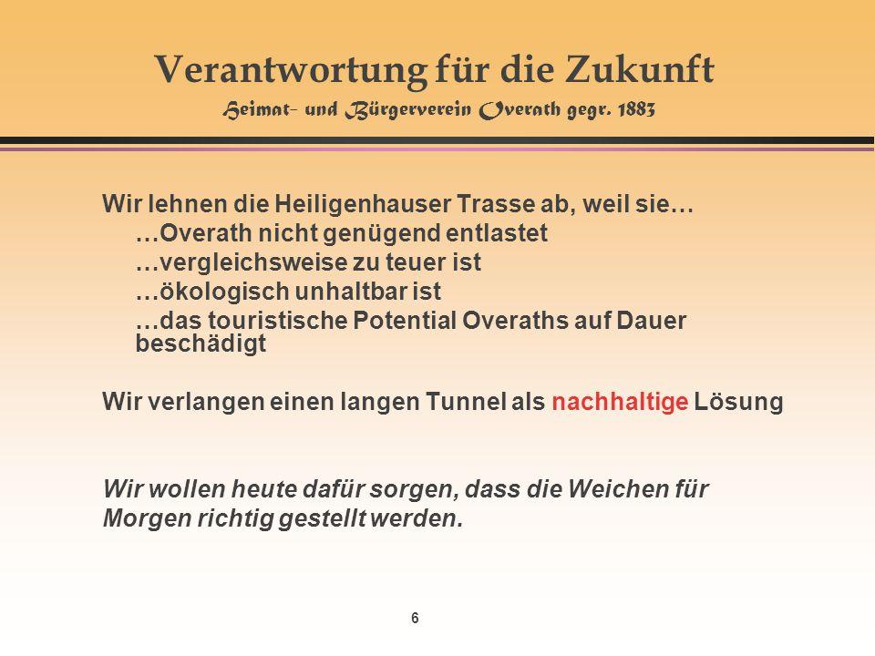 6 Verantwortung für die Zukunft Heimat- und Bürgerverein Overath gegr.