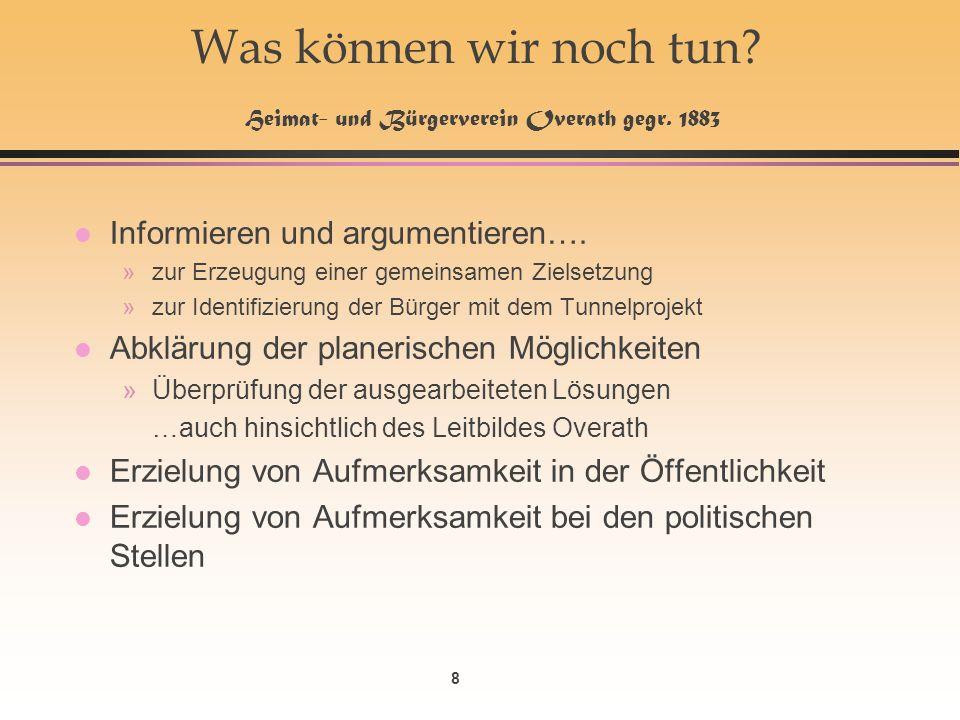 8 Was können wir noch tun. Heimat- und Bürgerverein Overath gegr.
