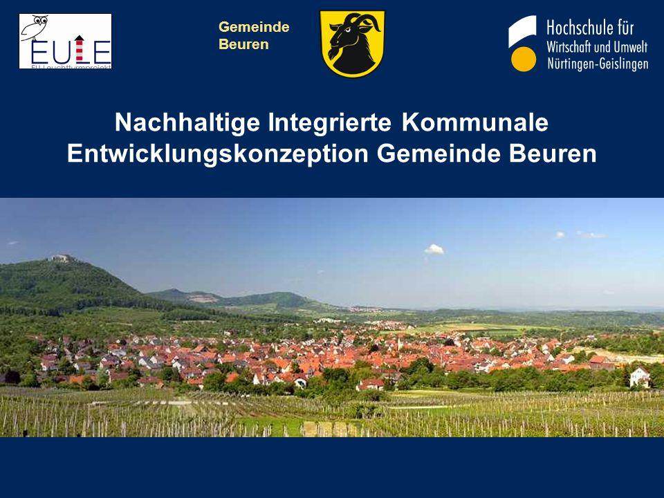 Gemeinde Beuren Nachhaltige Integrierte Kommunale Entwicklungskonzeption Gemeinde Beuren