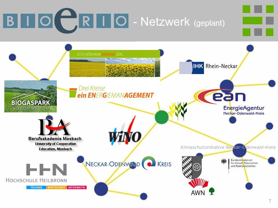 7 Bioenergie-Region Hohenlohe-Odenwald-Tauber Biogaspark Neckar Odenwald GmbH Abfallwirtschaftsgesellschaft Neckar-Odenwald-Kreis mbH WiNO mbH Wirtschaftsförderungsgesellschaft Neckar-Odenwald-Kreis Gewerbe- und Handelsverein .