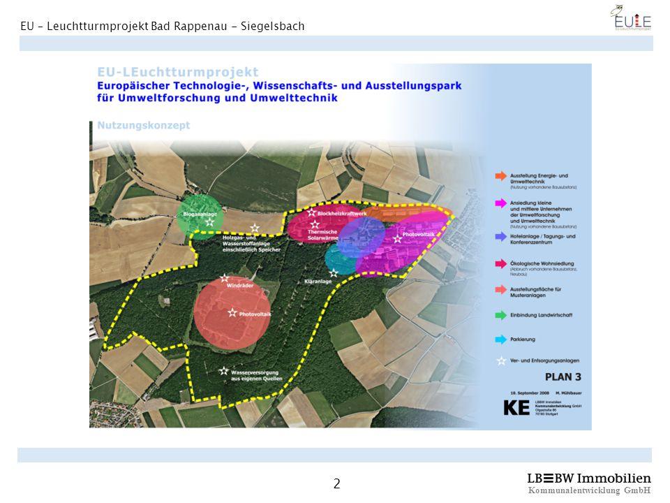 Kommunalentwicklung GmbH 2 EU – Leuchtturmprojekt Bad Rappenau - Siegelsbach