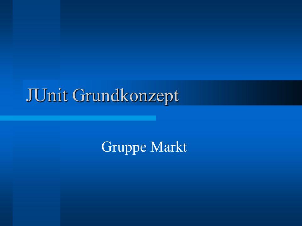 JUnit Grundkonzept Gruppe Markt