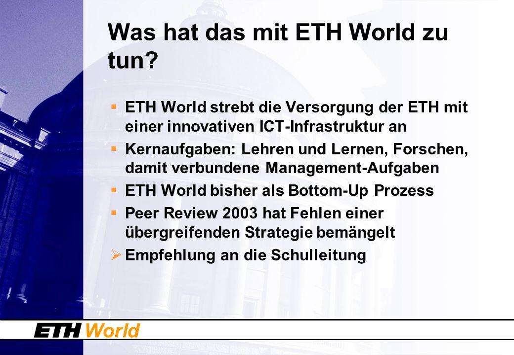 World Was hat das mit ETH World zu tun.