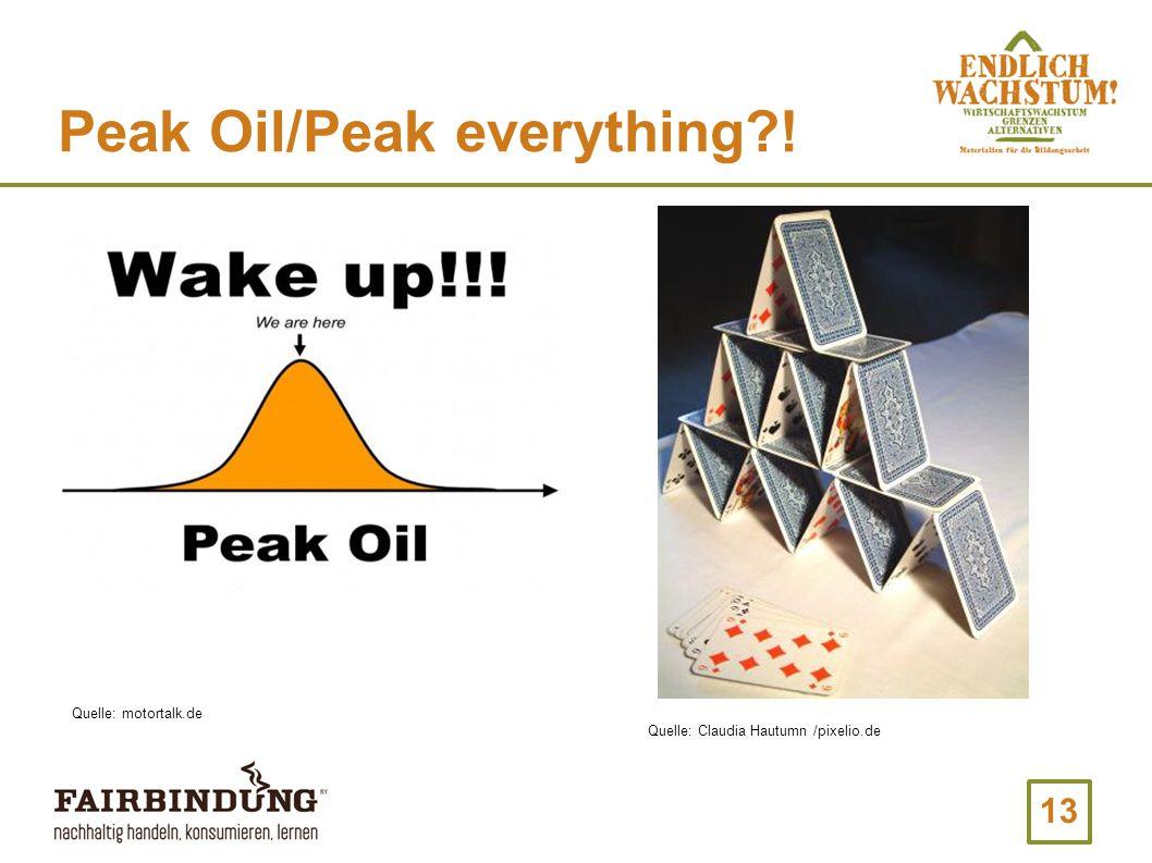 13 Peak Oil/Peak everything?! Quelle: motortalk.de Quelle: Claudia Hautumn /pixelio.de
