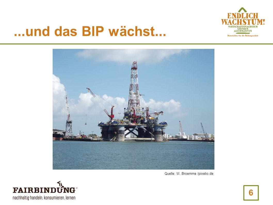 6...und das BIP wächst... Quelle: W. Broemme /pixelio.de