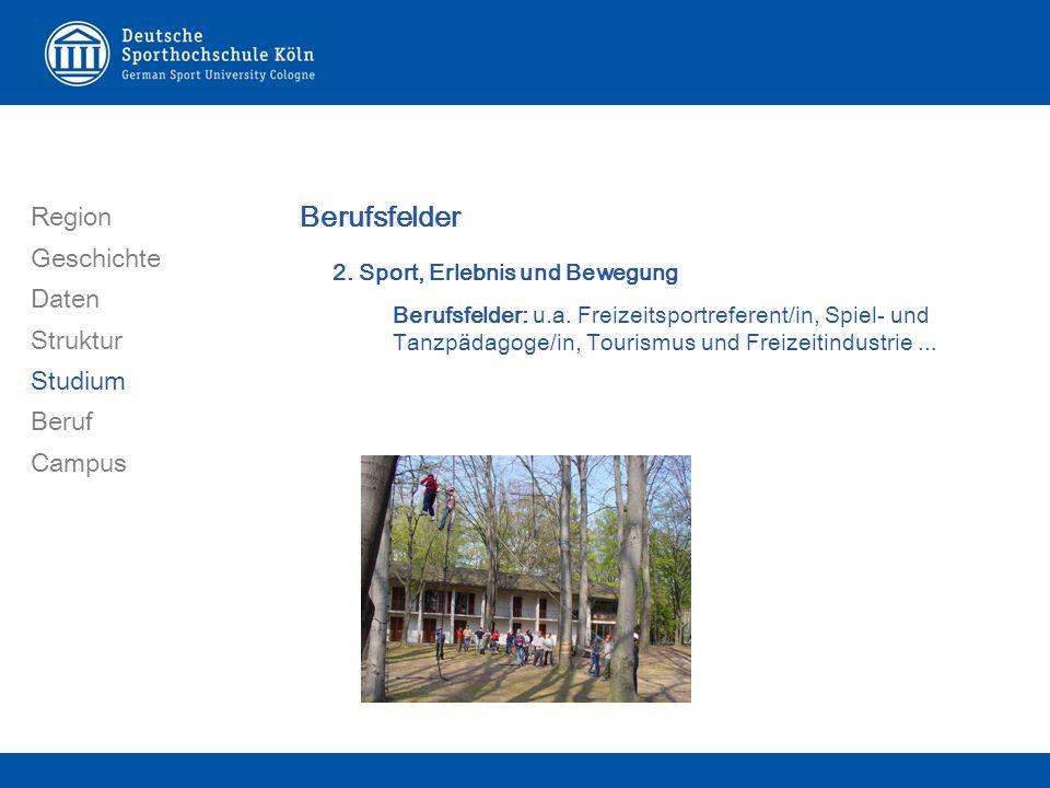 Region Geschichte Daten Struktur Studium Beruf Campus Berufsfelder 2.