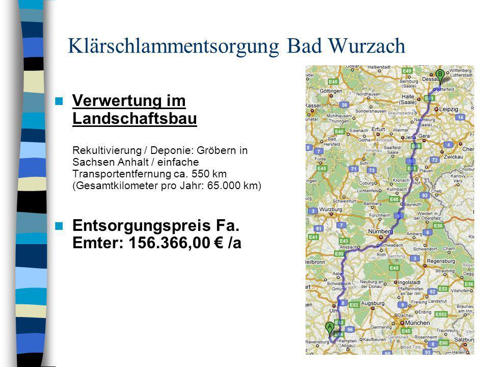 Klärschlammentsorgung Bad Wurzach Vergabevorschlag Aus wirtschaftlichen Gründen (Ersparnis ca.