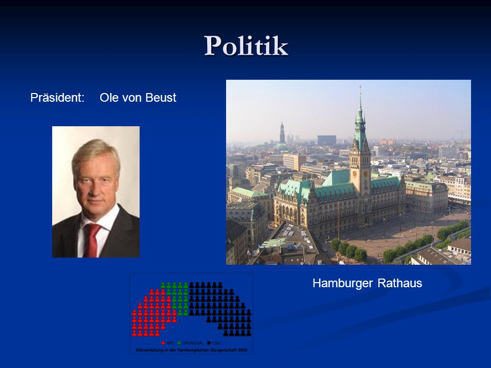 Politik Hamburger Rathaus Ole von BeustPräsident: