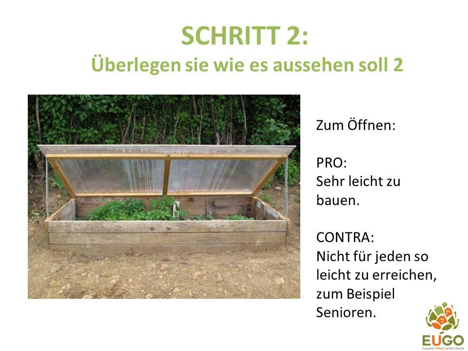 SCHRITT 2: Überlegen sie wie es aussehen soll 3 Ein Gewächshaus aus Holz und Plasteflaschen.