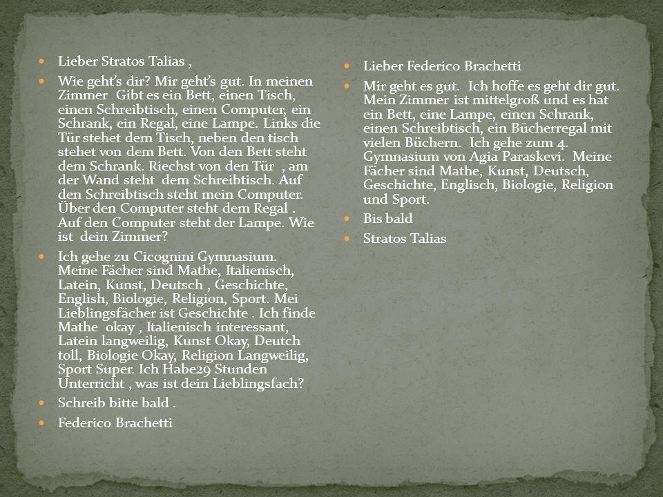 Prato, den 20 März 2009 Lieber Christos Ich danke dir für den Brief.