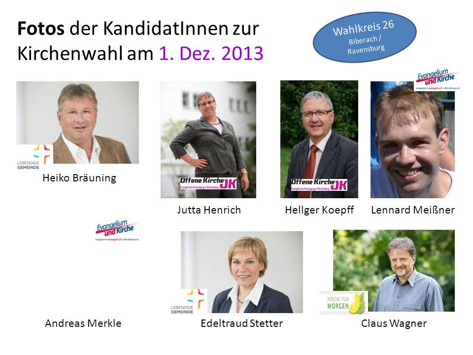Fotos der KandidatInnen zur Kirchenwahl am 1.Dez.