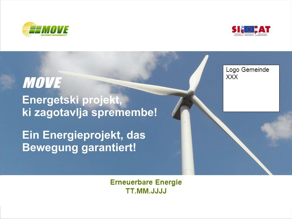 Erneuerbare Energie TT.MM.JJJJ Logo Gemeinde XXX