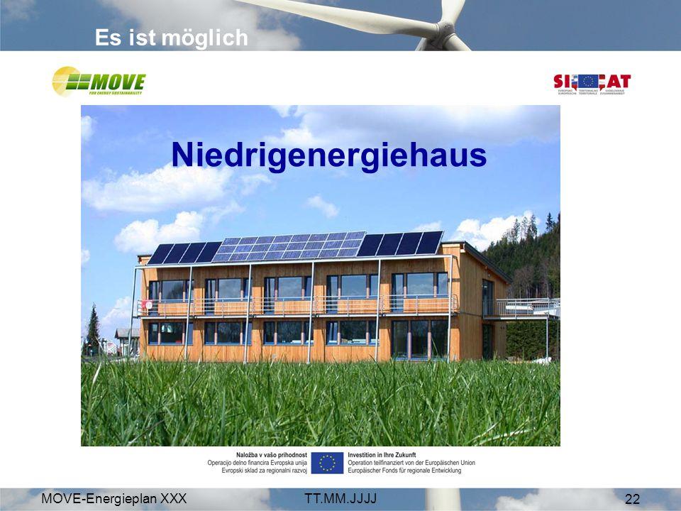 MOVE-Energieplan XXXTT.MM.JJJJ 22 Es ist möglich Niedrigenergiehaus
