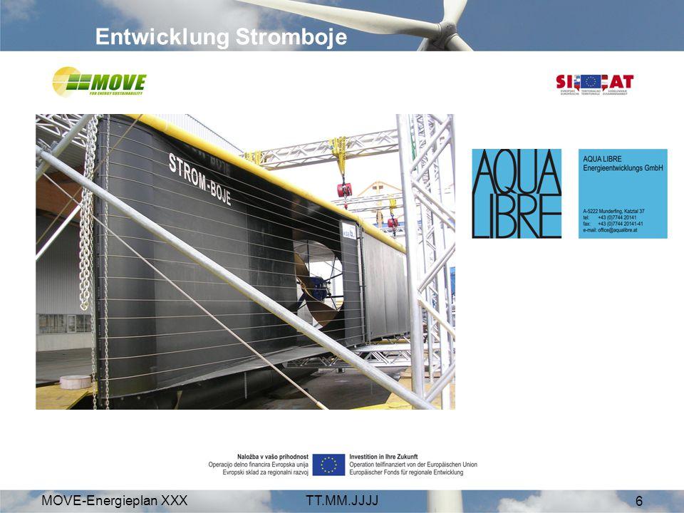 MOVE-Energieplan XXXTT.MM.JJJJ 6 Entwicklung Stromboje