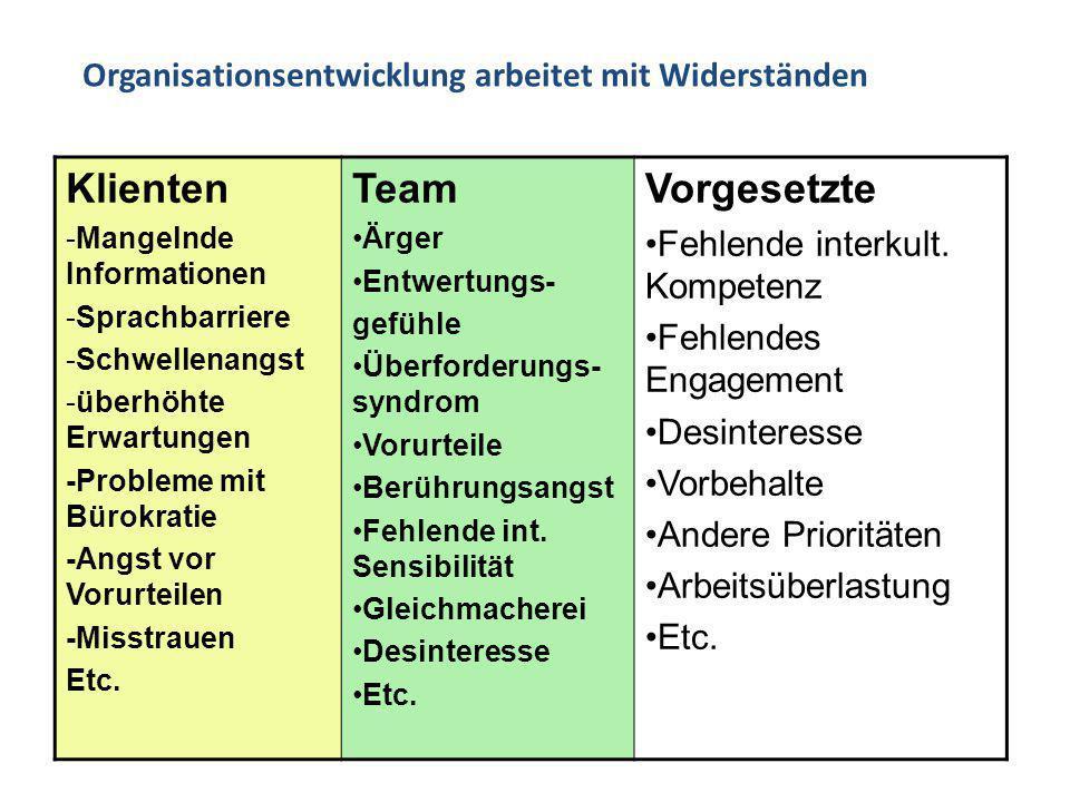 -Mangelnde Informationen -Sprachbarriere -Schwellenangst -überhöhte Erwartungen -Probleme mit Bürokratie -Angst vor Vorurteilen -Misstrauen Etc. Team