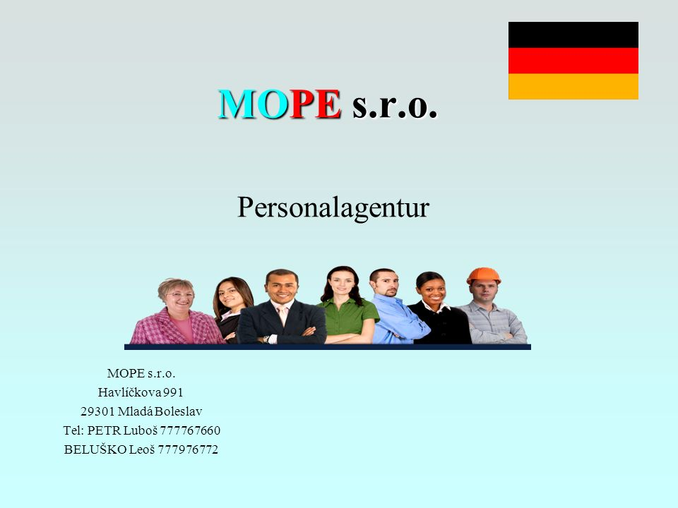 MOPE s.r.o.MOPE s.r.o. Personalagentur MOPE s.r.o.