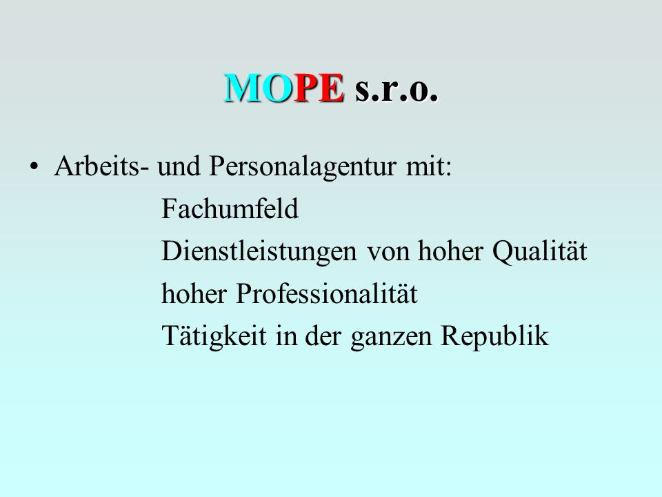 MOPE s.r.o.