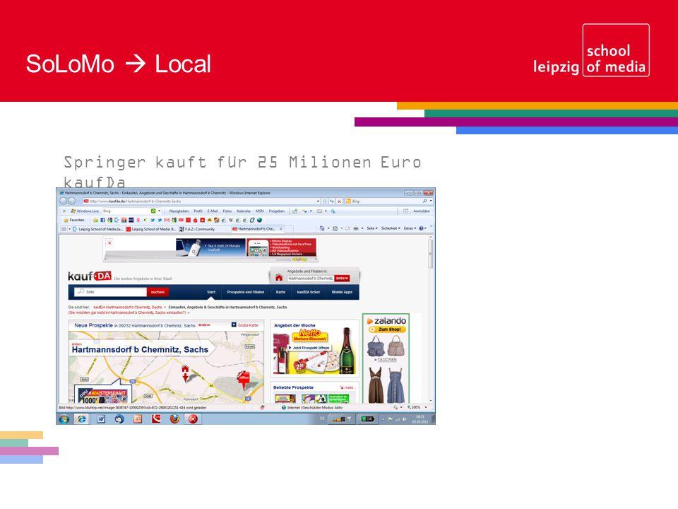 SoLoMo Local Springer kauft für 25 Milionen Euro kaufDa