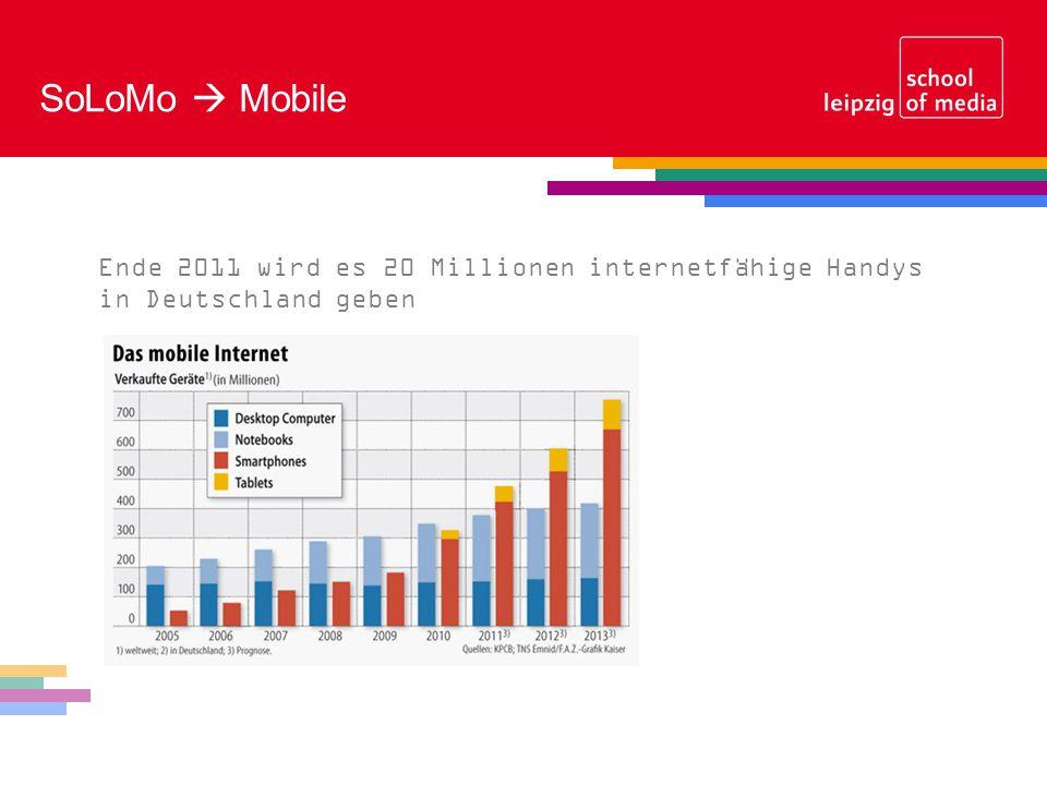 SoLoMo Mobile Ende 2011 wird es 20 Millionen internetfähige Handys in Deutschland geben