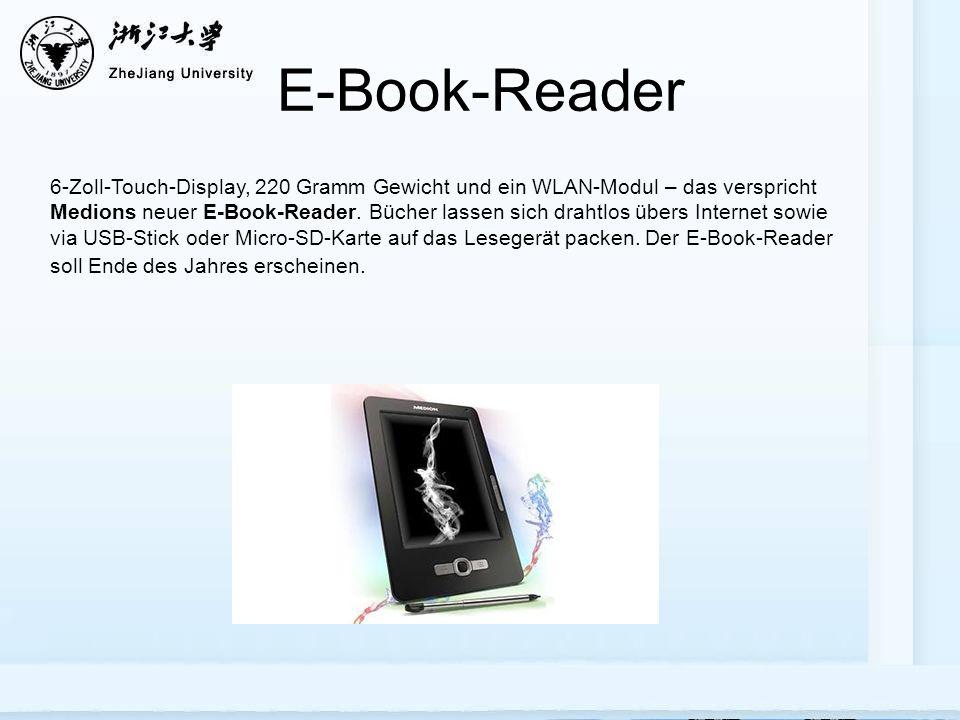 E-Book-Reader 6-Zoll-Touch-Display, 220 Gramm Gewicht und ein WLAN-Modul – das verspricht Medions neuer E-Book-Reader.