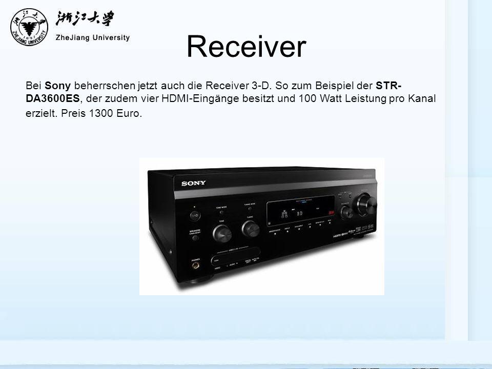 Receiver Bei Sony beherrschen jetzt auch die Receiver 3-D.