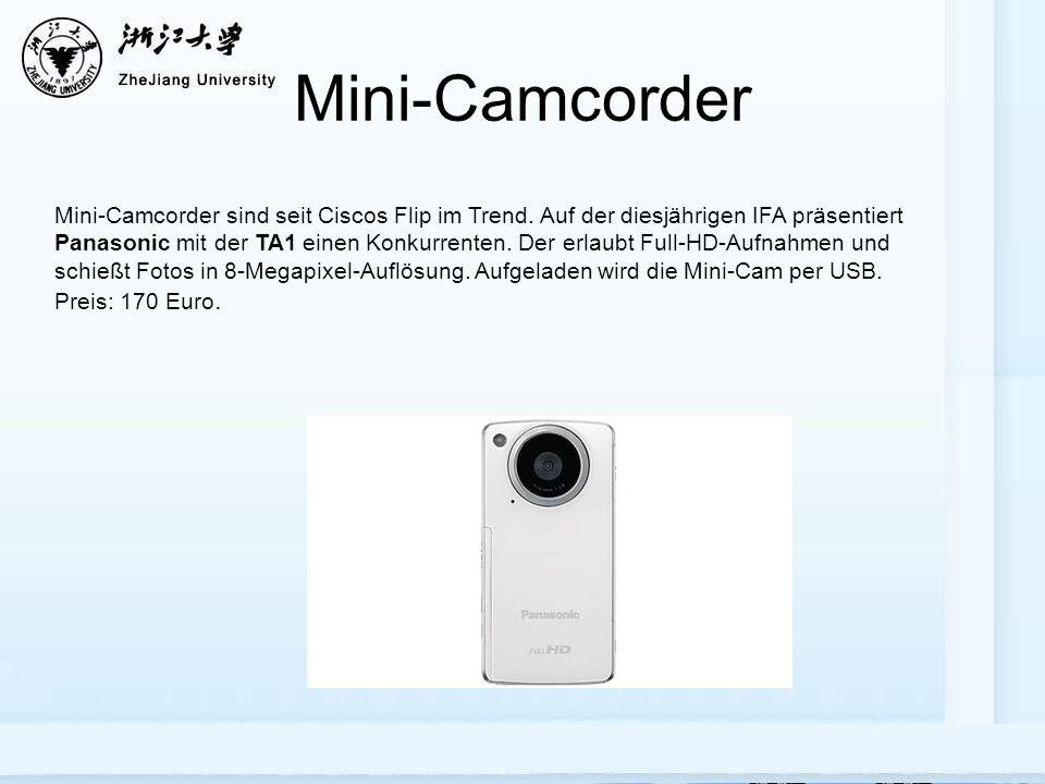 Mini-Camcorder Mini-Camcorder sind seit Ciscos Flip im Trend.