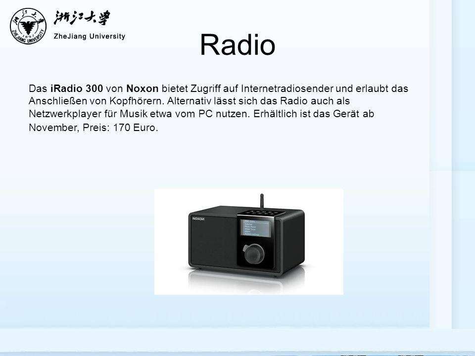 Radio Das iRadio 300 von Noxon bietet Zugriff auf Internetradiosender und erlaubt das Anschließen von Kopfhörern.