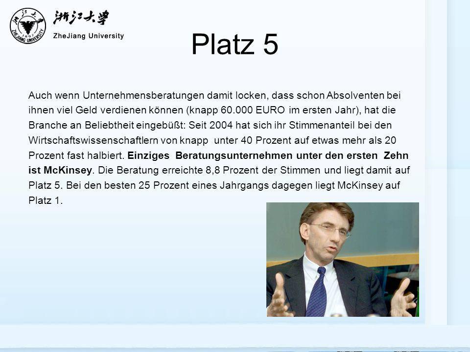 Platz 5 Auch wenn Unternehmensberatungen damit locken, dass schon Absolventen bei ihnen viel Geld verdienen können (knapp 60.000 EURO im ersten Jahr),