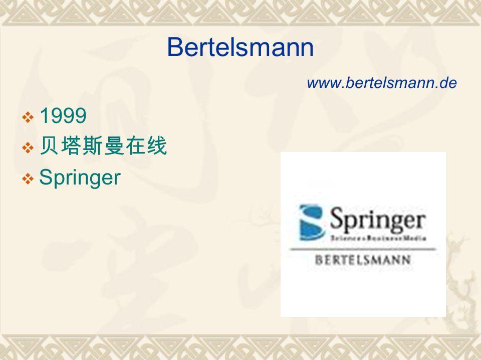 Bertelsmann www.bertelsmann.de 1999 Springer