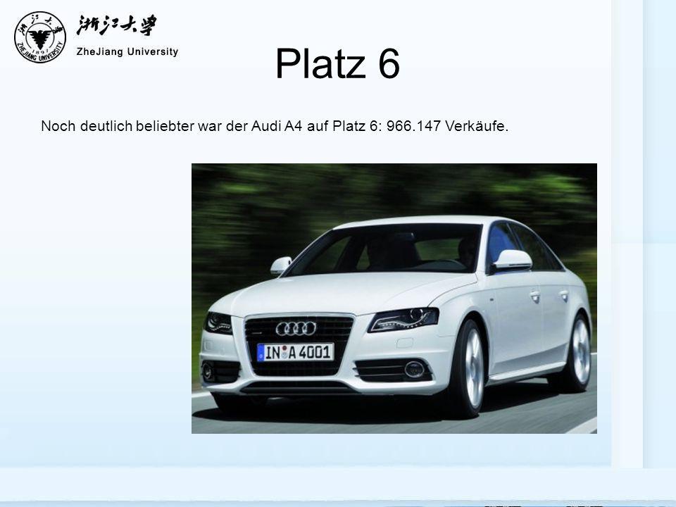 Platz 6 Noch deutlich beliebter war der Audi A4 auf Platz 6: 966.147 Verkäufe.