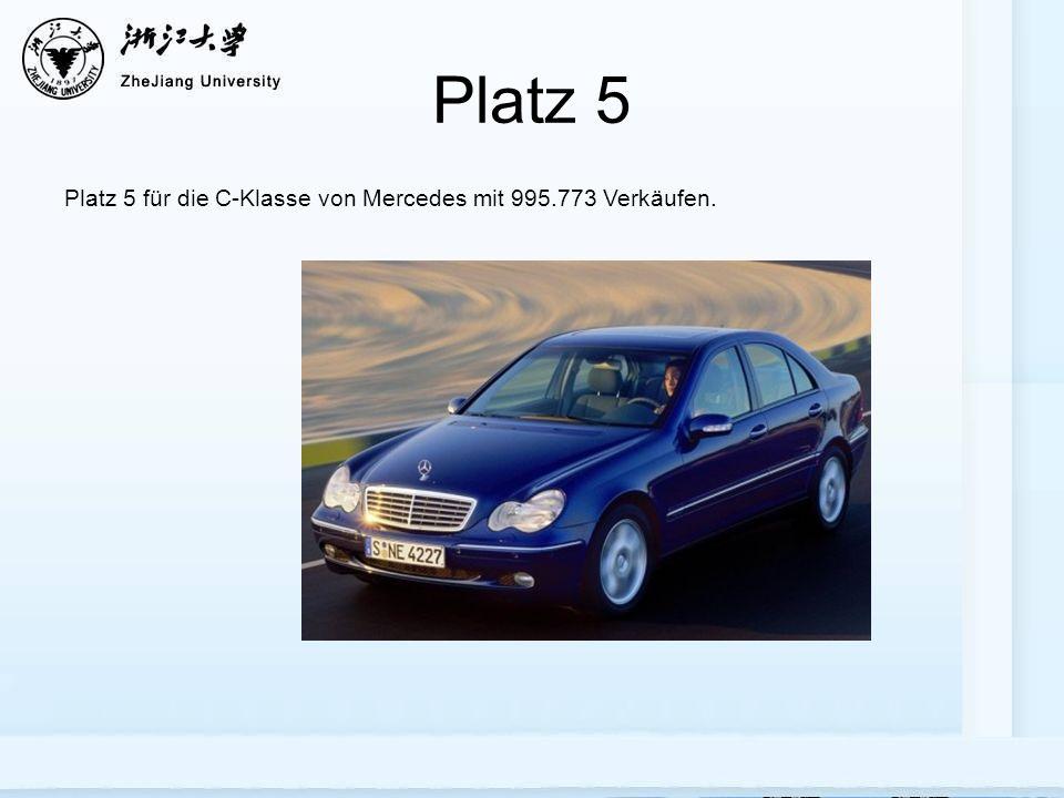 Platz 5 Platz 5 für die C-Klasse von Mercedes mit 995.773 Verkäufen.