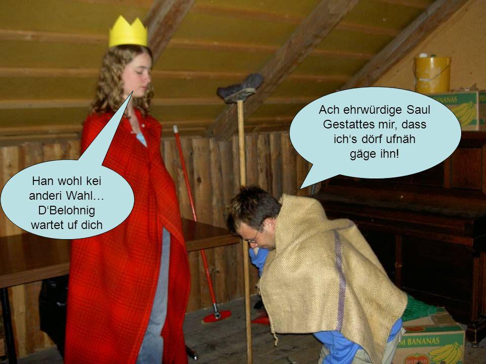 Ach ehrwürdige Saul Gestattes mir, dass ichs dörf ufnäh gäge ihn.