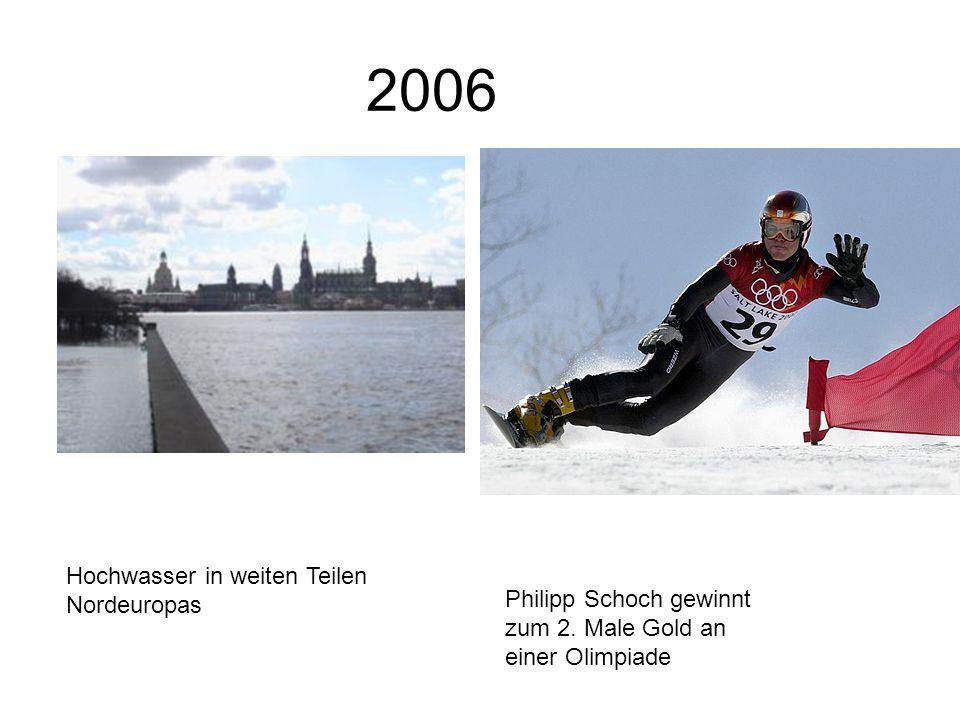 2006 Hochwasser in weiten Teilen Nordeuropas Philipp Schoch gewinnt zum 2.