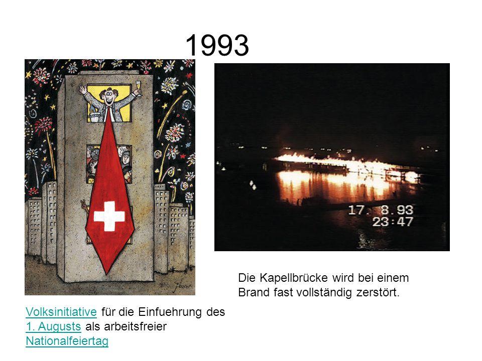 1993 VolksinitiativeVolksinitiative für die Einfuehrung des 1.