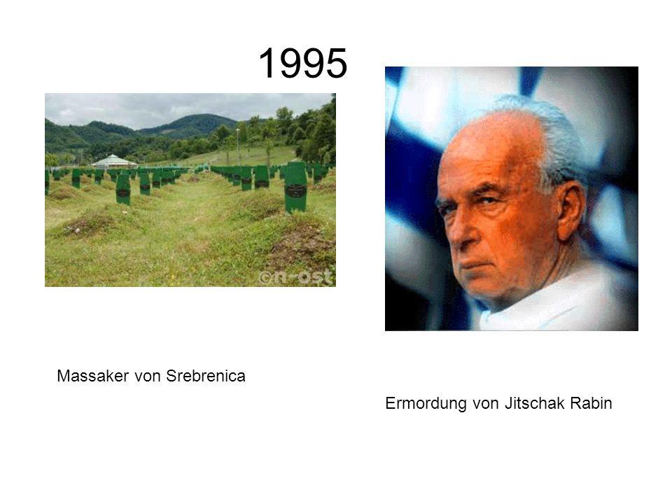 1995 Massaker von Srebrenica Ermordung von Jitschak Rabin