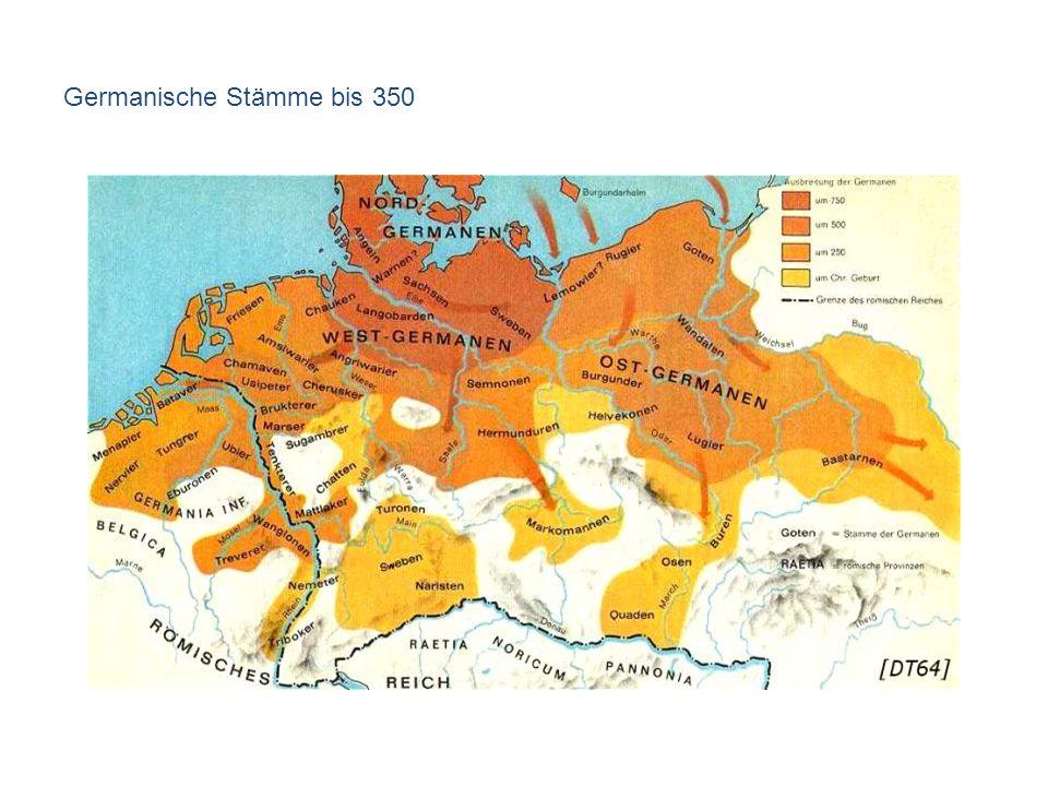 Germanische Stämme bis 350