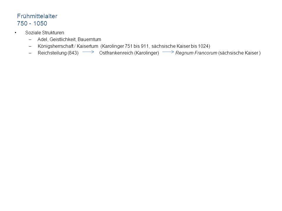 750 – 1050 literaturgeschichtliche Aspekte Übersetzungsliteratur –Abrogans (um 750) –Vocabularius Sancti Galli (um 790) –liturgische Gebrauchstexte –theologische Abhandlungen Heldenlieder –Hildebrandslied (aufgezeichnet um 830, Kloster Fulda)