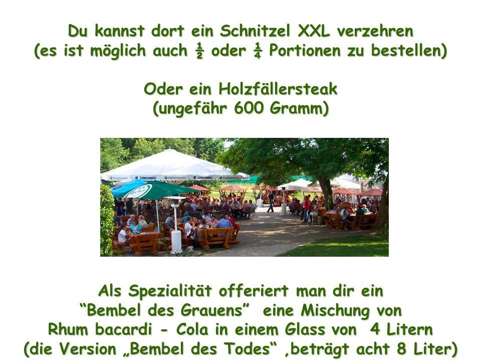 Das Bier wird serviert in Bocks von 0,5, 1 oder 2 Litern ! Hofheim ist eine Stadt im Lande Hessen - 17 km im Westen von Frankfurt