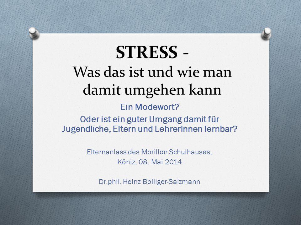 STRESS - Was das ist und wie man damit umgehen kann Ein Modewort.