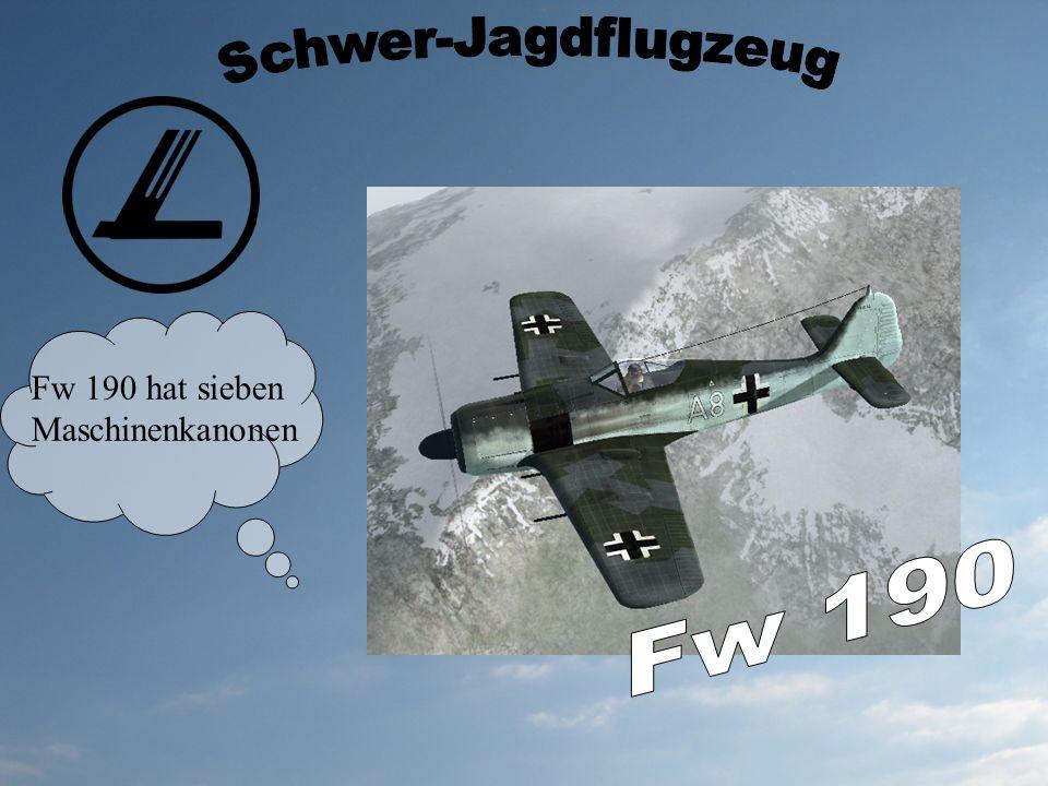 Fw 190 hat sieben Maschinenkanonen
