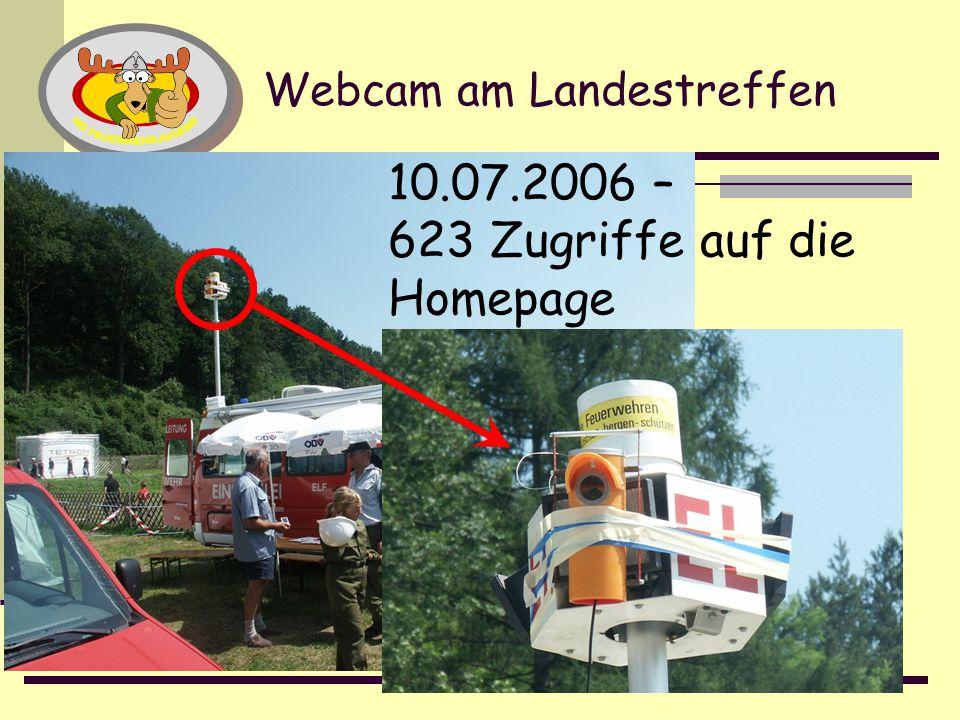 18 Webcam am Landestreffen 10.07.2006 – 623 Zugriffe auf die Homepage